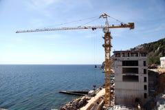 Cantiere al litorale di mare Immagine Stock