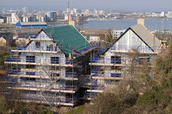 Tecniques del tetto nel Regno Unito immagine stock