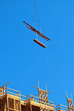 Cantiere con cielo blu Fotografie Stock