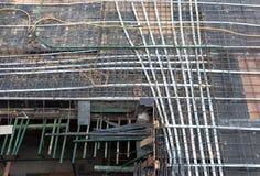 Cantiere con gli acciai concreti Fotografia Stock Libera da Diritti