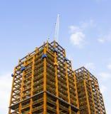 Cantiere con la gru a torre Fotografia Stock