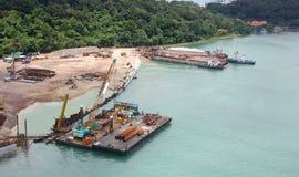 Cantiere costiero Immagini Stock Libere da Diritti