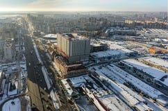 Cantiere del centro di affari in Tjumen' Immagini Stock Libere da Diritti