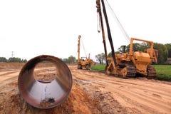 Cantiere del tubo di gas Fotografia Stock