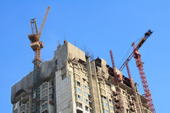 Cantiere dell'appartamento del condominio in luminoso Immagini Stock Libere da Diritti