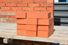 Cantiere della Camera di lavoro di muratura Come porre i mattoni gradisca un muratore fotografia stock