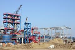 Cantiere della centrale petrolchimica immagini stock libere da diritti
