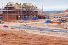 Cantiere della proprietà degli alloggi nuovi Fotografie Stock