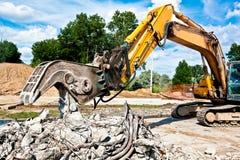 Cantiere di demolizione Fotografia Stock
