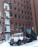 Cantiere di demolizione di inverno Fotografie Stock Libere da Diritti
