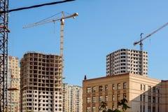 Cantiere di nuovi grattacieli immagine stock libera da diritti