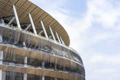 Cantiere di nuovo stadio nazionale a Tokyo immagini stock