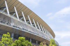Cantiere di nuovo stadio nazionale a Tokyo immagini stock libere da diritti