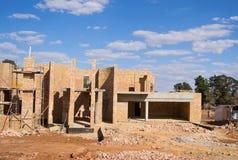 Cantiere di una casa Immagini Stock Libere da Diritti