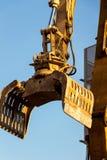 Cantiere durante la demolizione di una casa Fotografie Stock Libere da Diritti