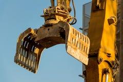 Cantiere durante la demolizione di una casa Fotografia Stock Libera da Diritti