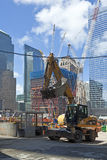 Cantiere in ground zero, Immagine Stock
