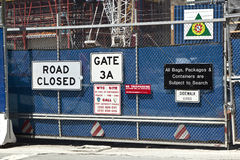 Cantiere in ground zero, Fotografia Stock