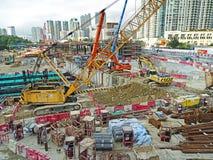 Cantiere a Hong Kong Immagine Stock