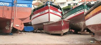 Cantiere nautico Fotografie Stock Libere da Diritti