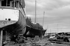 Cantiere navale abbandonato Fotografia Stock
