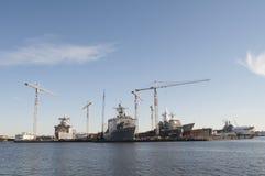 Cantiere navale della Norfolk Fotografie Stock