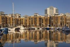 Cantiere navale della st Katharines - Londra - Inghilterra Fotografie Stock Libere da Diritti