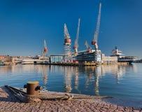 Cantiere navale di Hietalahti Fotografia Stock Libera da Diritti