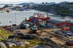 Cantiere navale di Nuuk Fotografia Stock Libera da Diritti