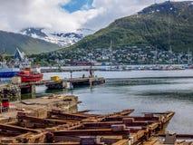 Cantiere navale di Tromso Immagini Stock
