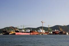 Cantiere navale, il Sud Corea Immagini Stock Libere da Diritti