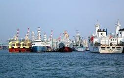 Cantiere navale locale al porto di Kaohsiung Immagine Stock