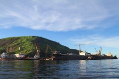 Cantiere navale Maua - Niteroi - Brasile Fotografie Stock