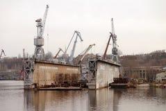 Cantiere navale nominato dopo il cantiere navale del nord di 61 Communards Nikolaev Fotografia Stock Libera da Diritti