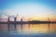 Cantiere navale Pola Fotografie Stock