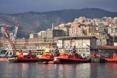 Cantiere navale - vista industriale, Genova, Italia Fotografia Stock