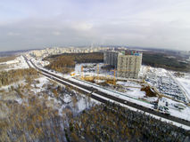 Cantiere nella città Immagine Stock