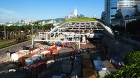 Cantiere per la ferrovia ad alta velocità in Hong Kong Fotografia Stock