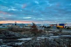Cantiere in Tychy, Polonia fotografia stock