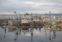Cantieri navali di Varna, Bulgaria Fotografie Stock