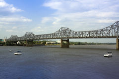 Cantilever Bridge. In Peoria on a Summer Day royalty free stock image