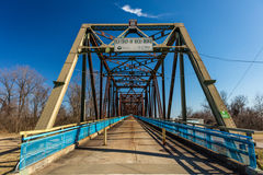 Cantilever Bridge, the Classic Old Chain of Rocks Bridge crosses the Missouri River in St. Louis, Missouri Royalty Free Stock Photo