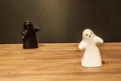 Cantina del sale dei fantasmi e vaso di pepe Immagine Stock Libera da Diritti