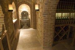 Cantina per vini domestica di lusso. Immagine Stock