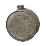 Cantina redonda vieja del agua del metal Fotos de archivo