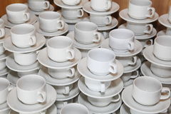 Cantine, touristes de attente de tasse de café Photo libre de droits