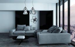 Canto acolhedor em uma sala de estar moderna Foto de Stock Royalty Free
