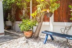 Canto bonito do jardim pequeno, jardinagem da decoração Fotografia de Stock Royalty Free