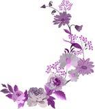 Canto com flores cor-de-rosa Imagens de Stock Royalty Free