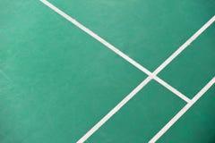 Canto da corte de badminton foto de stock